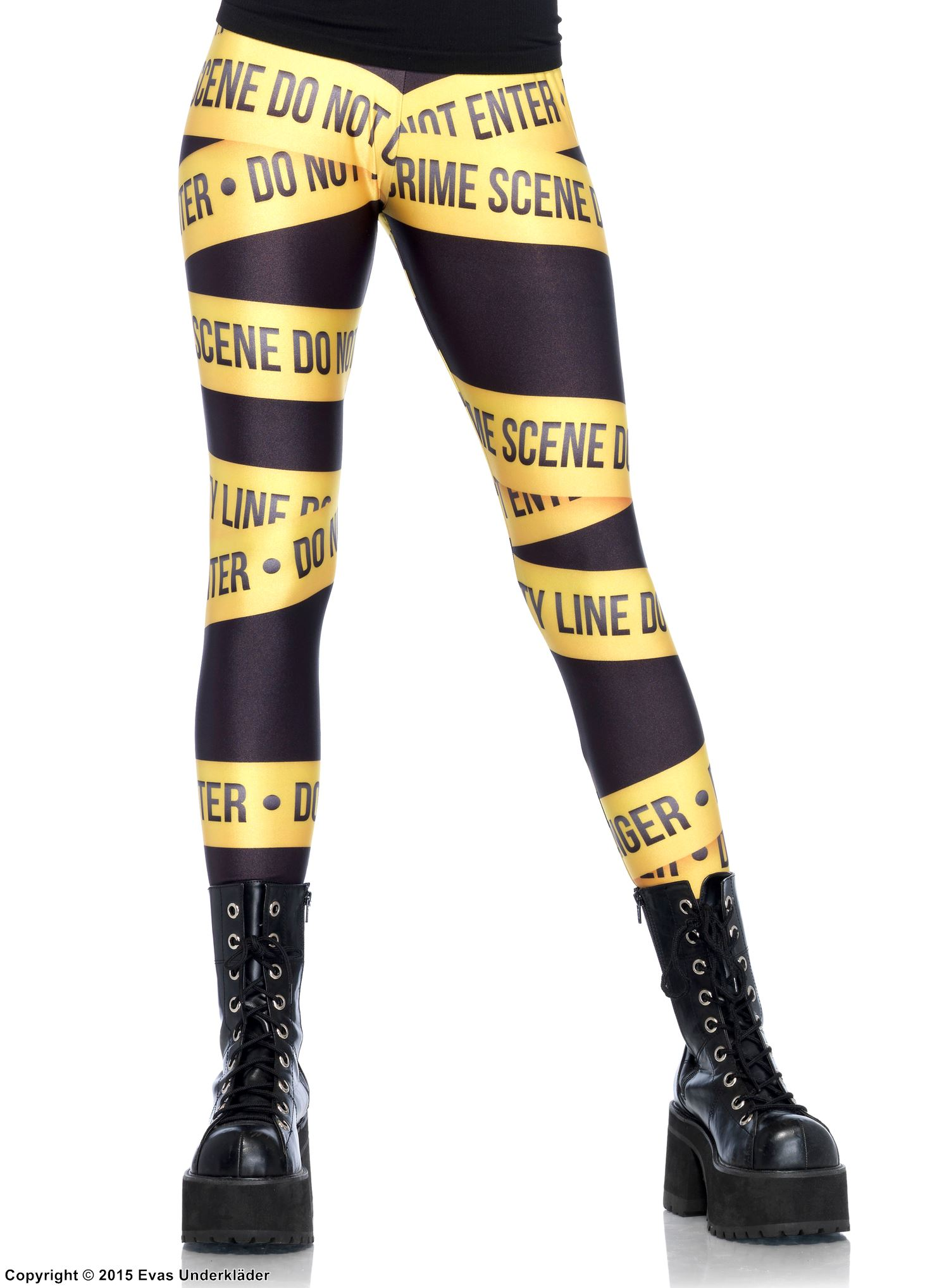 Leggings med Crime Scene-tape